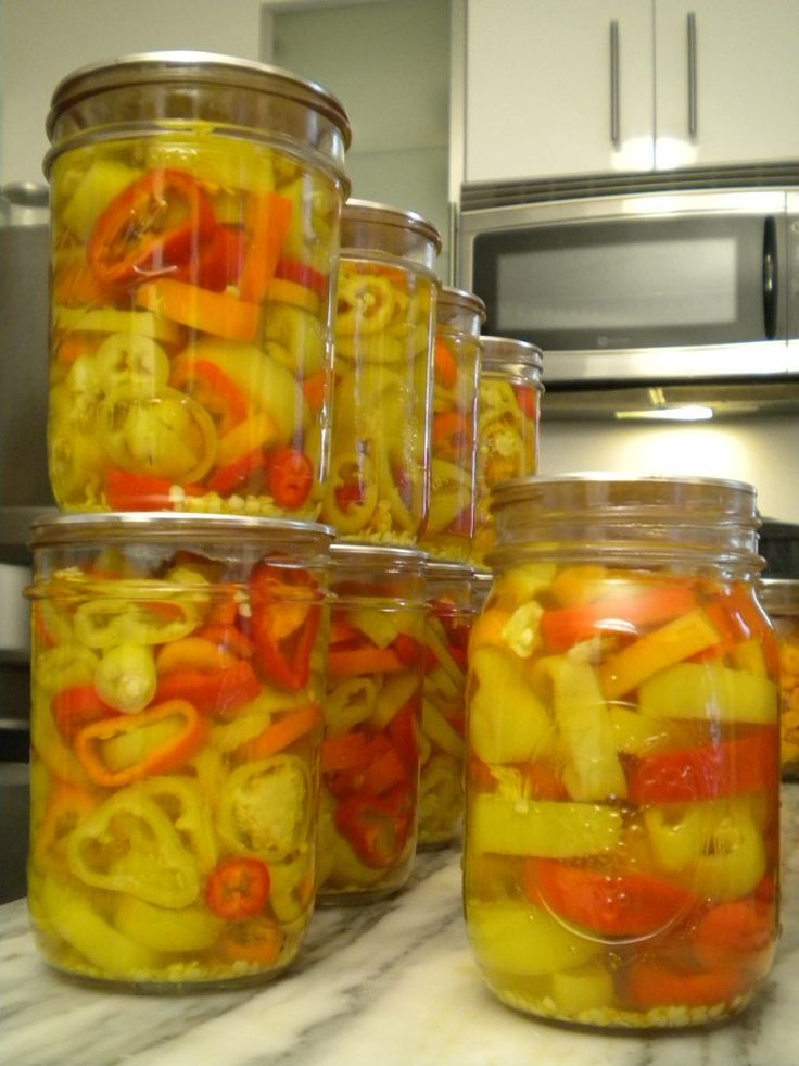 how to make and can banana peppers