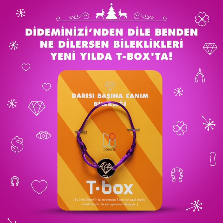 """Didemin İzi for T-box! Yeni yılda """"darısı başına canım"""" bilekliği #dideminizi #dideminizifortbox #aksesuar #bileklik"""