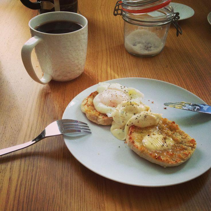 Sourdough English muffins with eggs Cumberbatch