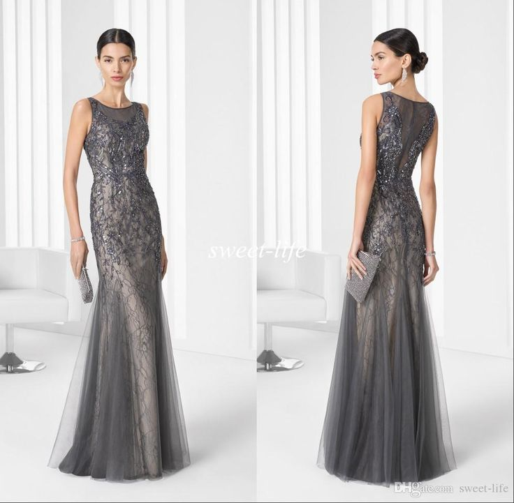 2016 Grey Vintage Long Mother Of The Bride Dresses Lace Beading Mermaid Jewel Sleeveless Wedding Party Mother Gowns Luxury Evening Dresses Mother Of The Bride Plus Size Mother Of The Brides Dresses From Sweet Life, $121.79| Dhgate.Com