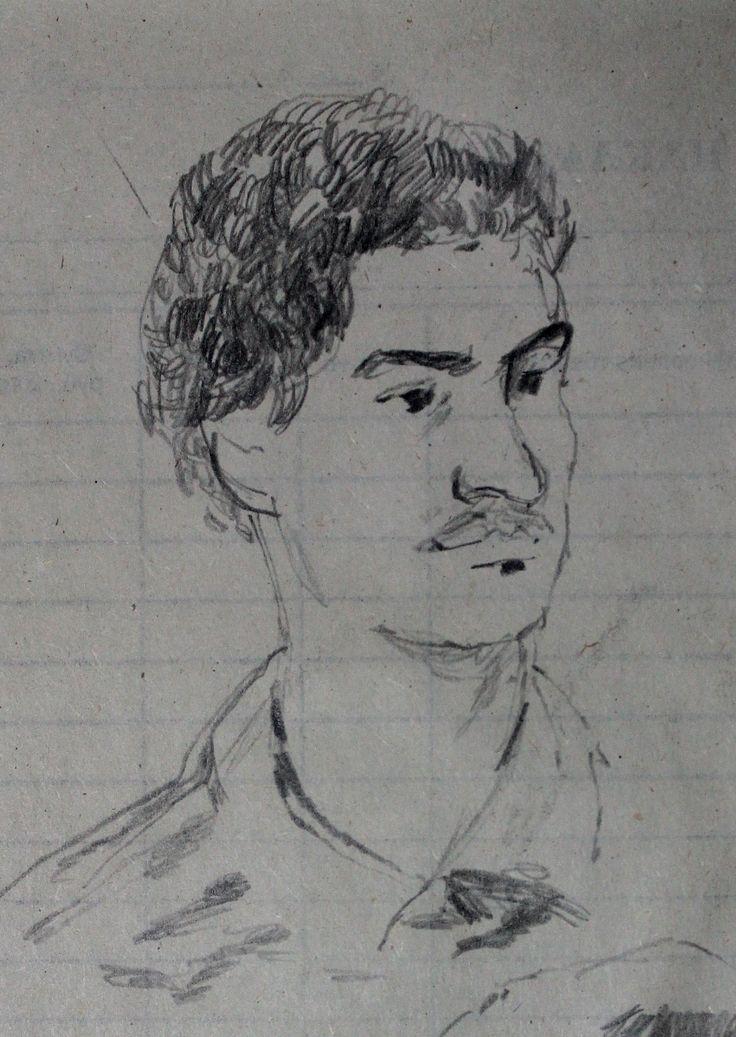 Титенков Владислав. Набросок. Мой друг. . А6.2013 Titenkov Vladislav. Sketch. My friend. A6.2013