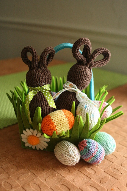 My Knitted Easter Eggs & Chocolate Bunnies by fotonuvo1, via Flickr