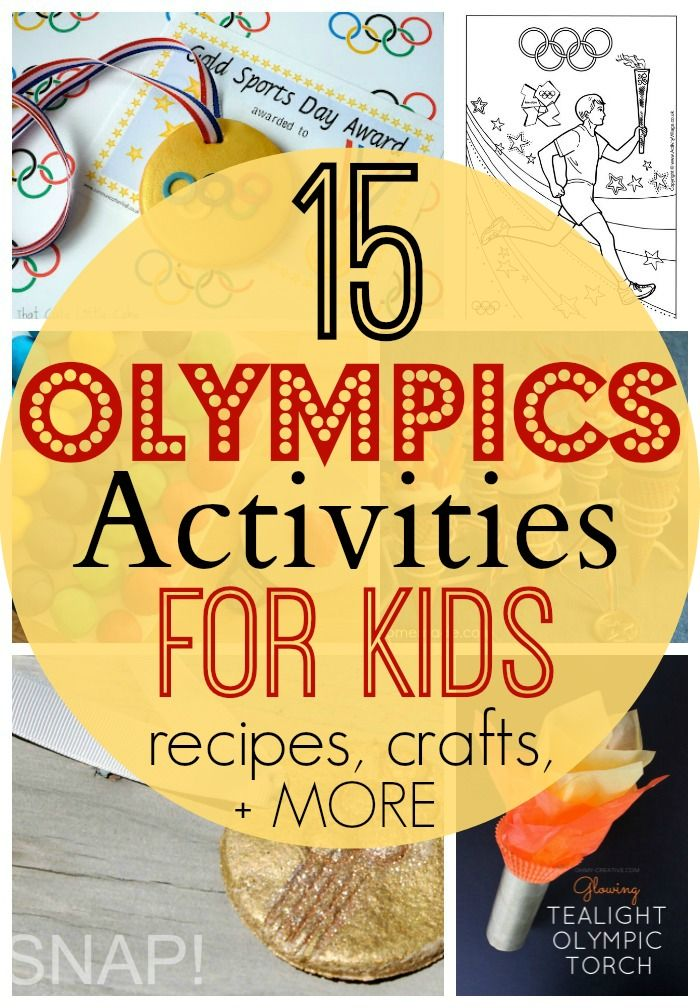15 Olympics Activities and Treats for Kids! #olympics #crafts