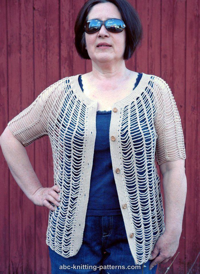 ABC Knitting Patterns - Sunny Days Chain Cardigan