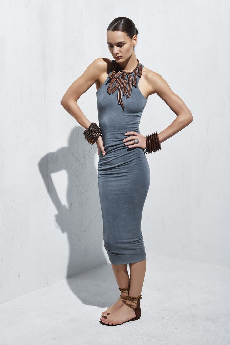 Harmony- Urban Zen Spring Summer Collection 2015 Square Neck Cross Back Dress urbanzen.com