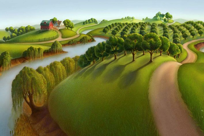 Grant Wood Landscapes Grant Wood Yes That Grant Wood