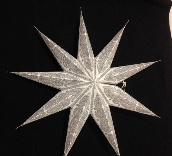 Cutwork Christmas Paper Star Lanters by WondrousCreation on Etsy