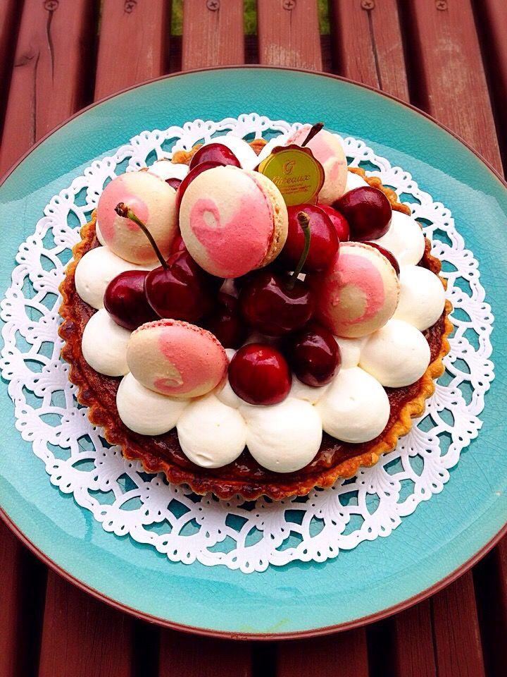 ひなうた's dish photo アメリンチェリーのタルト   http://snapdish.co #SnapDish #ケーキ #タルト #クッキー #お誕生日 #クリスマス