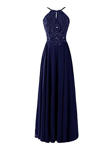 Dresstells® Women's Long V Neck Chiffon Prom Dress A-line Evening Dress Bridesmaid Dress with Beads Dresstells http://www.amazon.co.uk/dp/B00U4NH4ZC/ref=cm_sw_r_pi_dp_1Yvuvb0WEGSYS