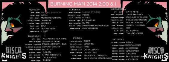 Disco Knights Burning Man 2014 Lineup // DeeplyMoved
