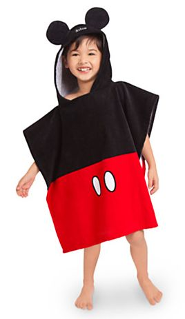 Mickey Mouse Hooded Towel for Boys - Personalizable. Great to throw on after the pool!