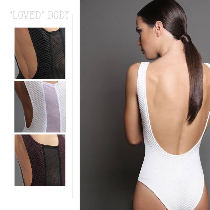 """Loved"" body - Pick your style. www.royalrag.eu #royalrag #body #white #black #burgundy #openback #chic #style #transparency"