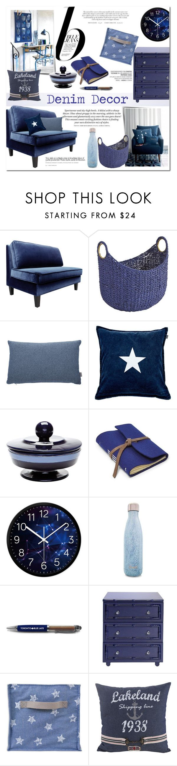 """""""Blue Jeans ~ Denim Decor"""" by alexandrazeres on Polyvore featuring interior, interiors, interior design, home, home decor, interior decorating, Dot & Bo, H&M, Pier 1 Imports and Heal's"""