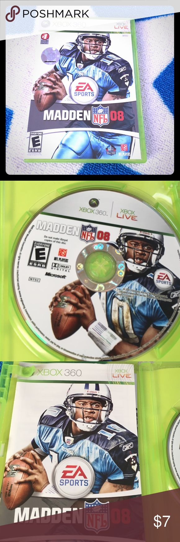 Madden 08 NFL Xbox 360 Can connect to Xbox live Xbox 360 Other
