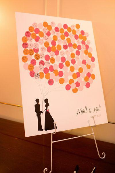 creative guest book | Katelyn James #wedding