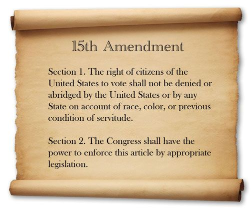 (photo: BlackUSA) 1870 Congress ratified the 15th Amendment, giving African Americans the right to vote. However, women were not permitted (Taylor).