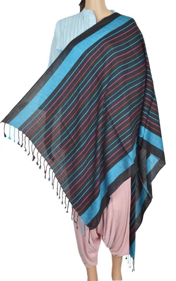 Hand loom Viscose Shawl Scarf Wrap women accessory Pashmina Style India ID4265 #Handmade #ShawlWrap