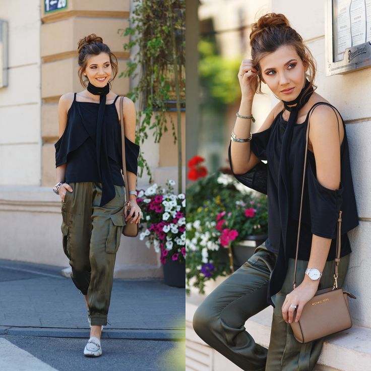 Silky pants and slippers in a casual look today on my blog: http://themysteriousgirl.ro/2016/05/silk-trend/