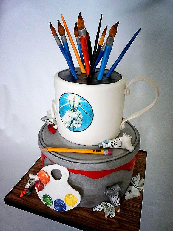 25+ Best Ideas about Artist Cake on Pinterest Art ...