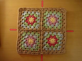 Crinkle Free Granny Square Borders - love this, very simple solution :-)