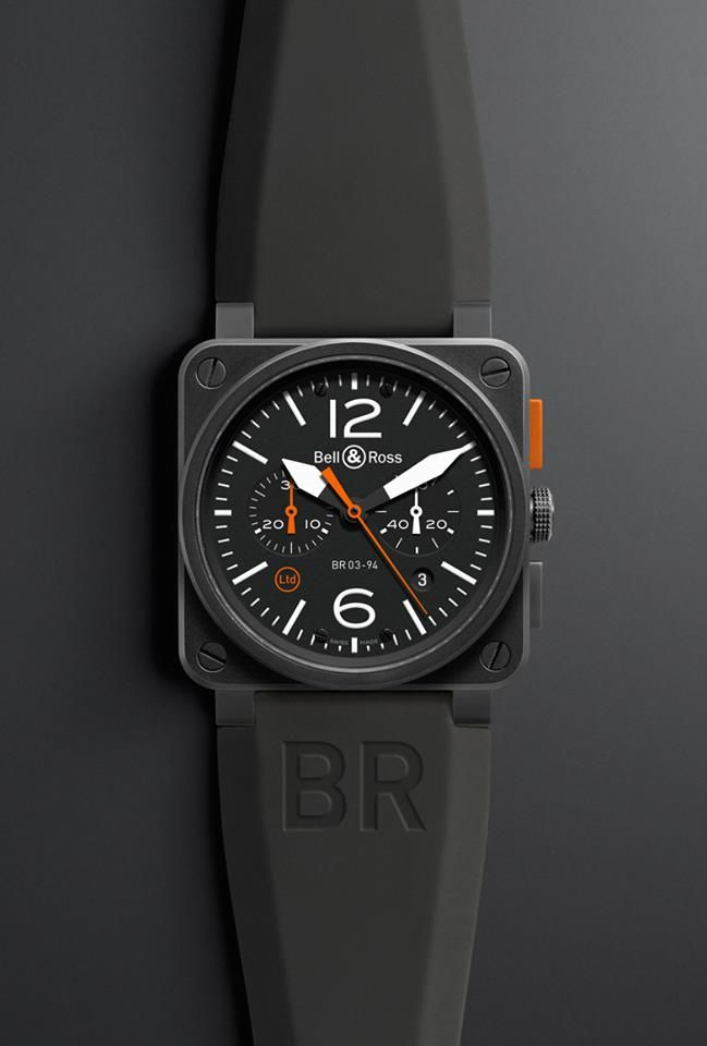 NEW Bell & Ross 03-94 CARBON ORANGE. (via Bell & Ross)