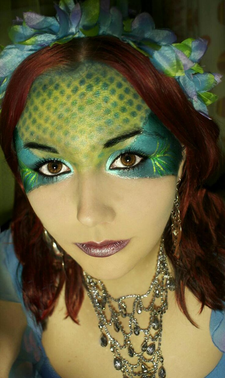 Mermaid face make up