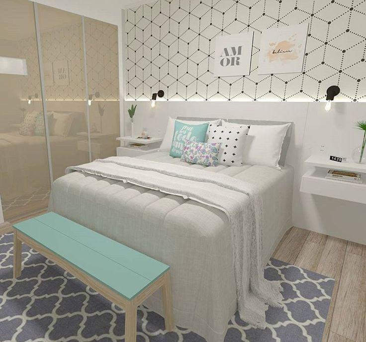 """1,224 Likes, 36 Comments -  Interiores e Arquitetura (@criarinteriores) on Instagram: """"Boa noite! Um quarto com toques de rose a pedidos da cliente que gostaria de uma decoração feminina…"""""""