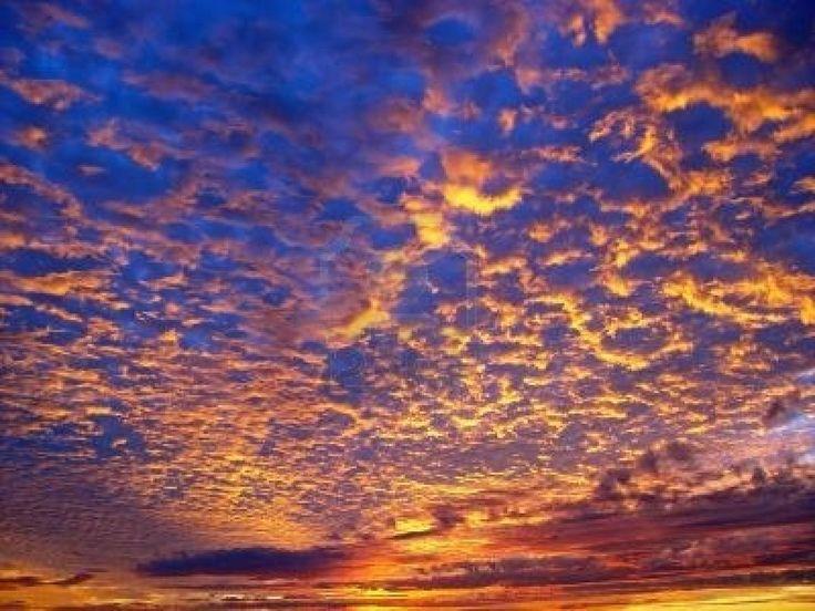 Prachtige zonsondergang over de oceaan