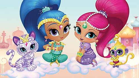 shimmer and shine on cloud | ... Center Videos Just for Fun Videos Shimmer and Shine: Magical Mishaps