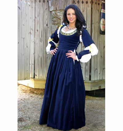 Journe Gown - Medieval Renaissance Clothing, Costumes // just get a higher chemise