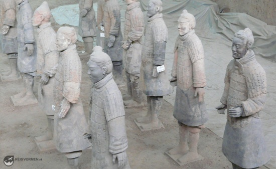 Close up of a few terracotta warriors...