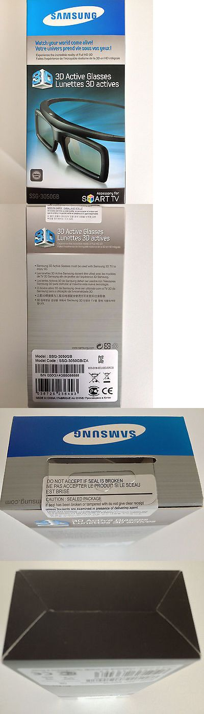 3D TV Glasses and Accessories: Samsung Ssg-3050Gb 3D Active Glasses New/ Factory Sealed -> BUY IT NOW ONLY: $30.0 on eBay!