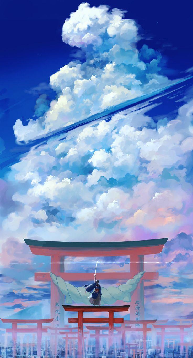 はたや🥞 on in 2020 Anime scenery wallpaper, Anime scenery
