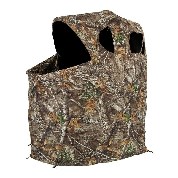 Ameristep 54 X 45 Polyester Realtree Edge Camo Tent Chair Ground Hunting Blind Tent Chair Ground Blinds Blinds