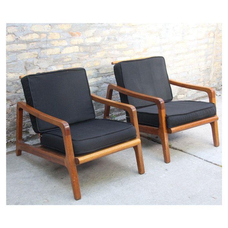 Vintage Mcm 1960s Made In Japan Teak Armchairs Mid Century Modern Chair Teak Armchair Mid Century Lounge Chairs