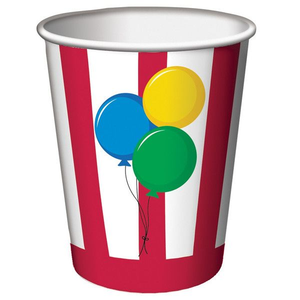 9 oz Hot/Cold Paper Cups Circus Time/Case of 96