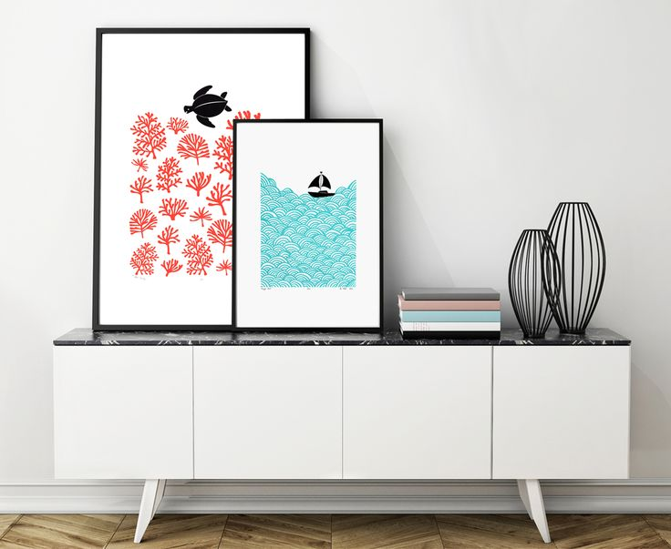 Seaside Nautical Prints for the Home. Limited Edition Prints made in my Kew Gardens studio in London.