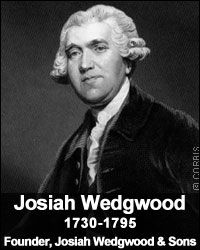 Josiah Wedgwood founded the Wedgwood Pottery company in Burslem, Staffs on1st May, 1759 and is credited with the industrialisation of the manufacture of pottery. A prominent abolitionist, who is remembered for his 'Am I Not a Man and a Brother' anti slavery medallion. He was also the grandfather of Charles and Emma Darwin