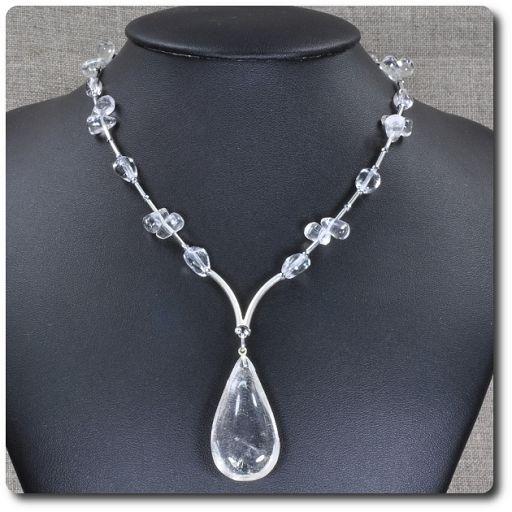 Naszyjnik kryształ górski, hematyt - Biżuteria - sklep internetowy Galeria Lagos