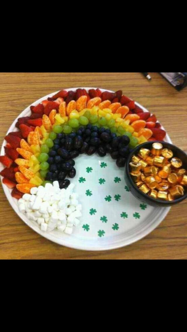 Fruit and goodies: Pot of Gold at the end of the rainbow