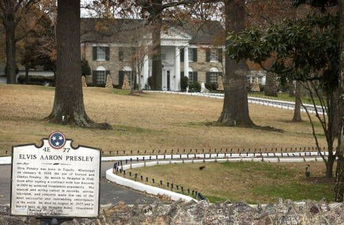 Graceland Mansion, Memphis, TN. I actually got to be inside the gates with Elvis chatting with a handful of folks who happened to stop by. He was strolling Lisa Marie, took her back to the house and then came out and chatted for several minutes with us. Went inside the house on a tour a couple years ago.