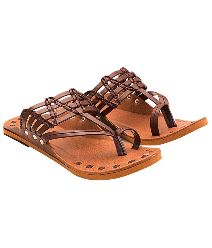 Ridhi Sidhi Brown Ethnic Footwear