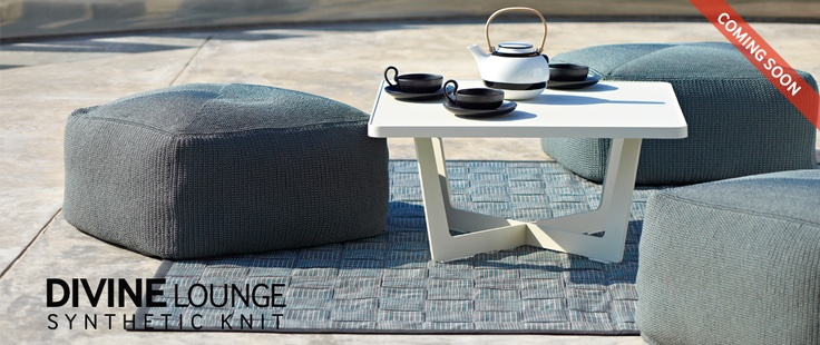 Divine footstool - perfect for #Outdoor use. Comfortable and durable in all weather. Perfect #Gardenfurniture for your home. #Caneline