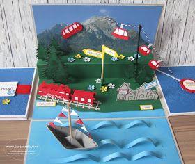 Reise nach Luzern Geschenkbox Explosionsbox Überraschungsbox mit Berge Berglandschaft Wanderferien Wanderausflug Feriengutschein Reisegutschein