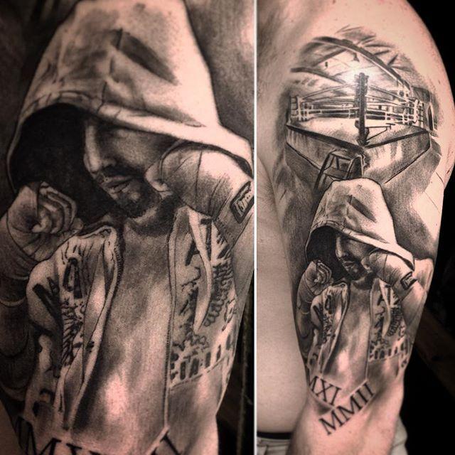 Znalezione obrazy dla zapytania boxing tattoo sleeve