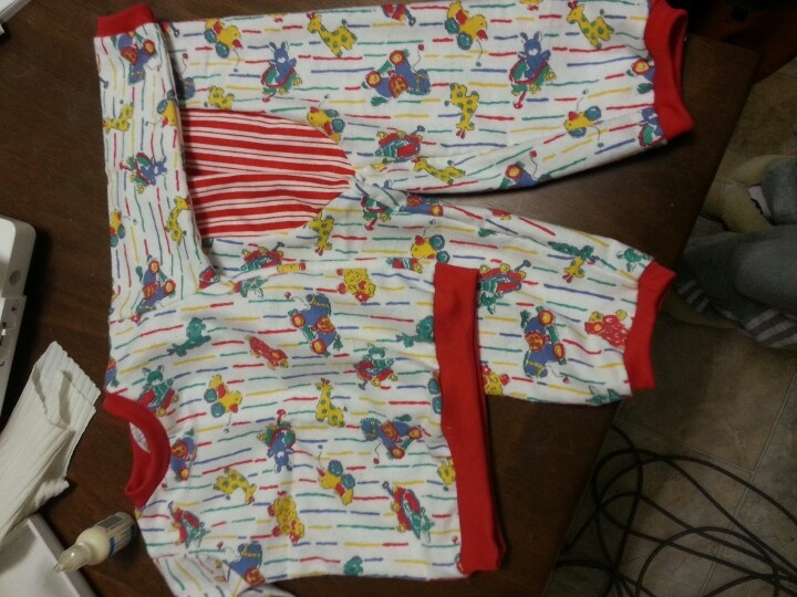 Vintage flanelette pj's with big butt pants - made by rae pattern
