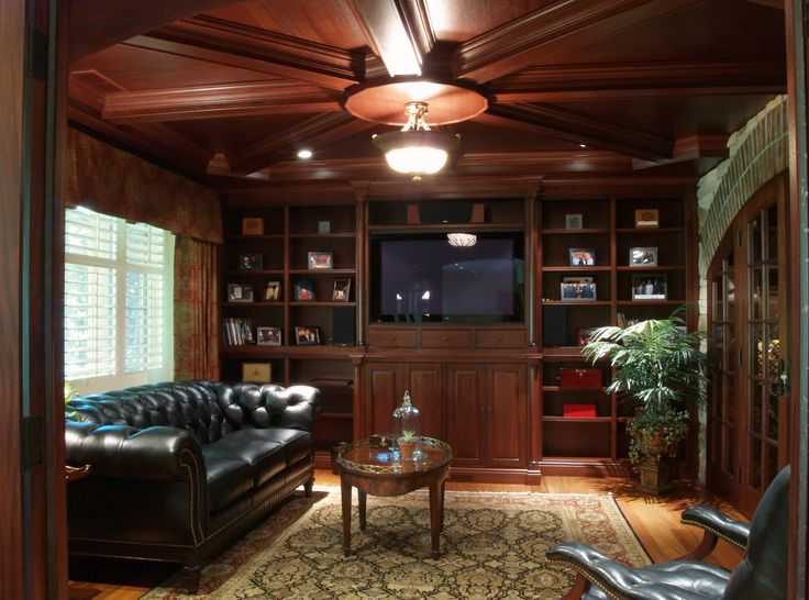 luxury basement designs | Media Room An actual home theater system was installed and finished ...