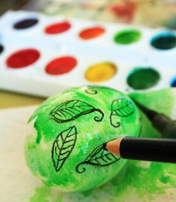 ostereier färben statt kaufen aquarell ausmalen stifte