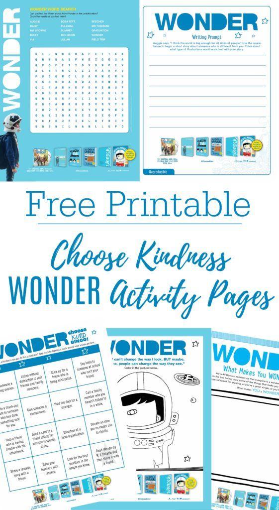 Printable Wonder Activity Sheets + Bluray Giveaway   Free ...