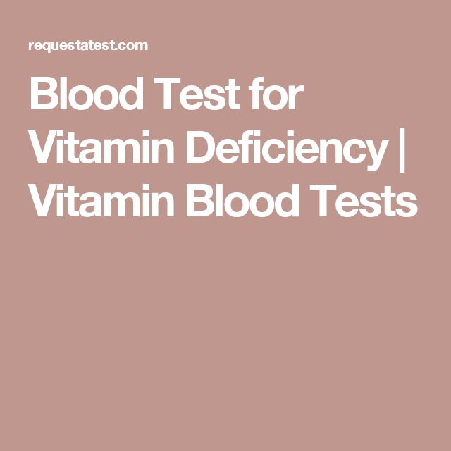 Blood Test for Vitamin Deficiency | Vitamin Blood Tests